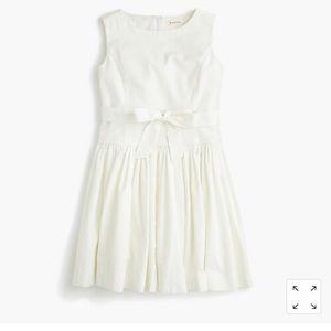 Girls Jcrew Ivory tie-waist dress